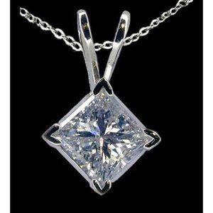 Jewelry - 2.01 carat Diamond solitaire pendant locket with c